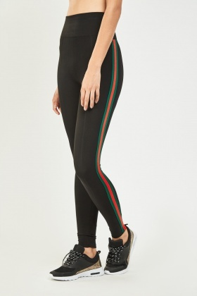 Striped Side Sports Leggings