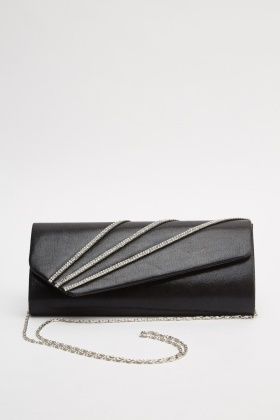 Diamante Trim Clutch Bag