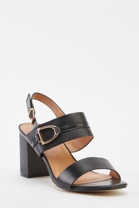bedf1d6bd64 Double Strap Block Heel Sandals - Just £5