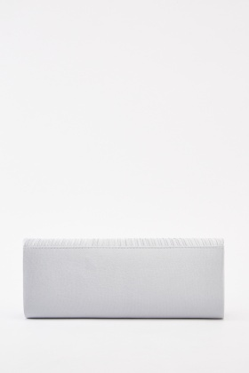 Pleated Sateen Clutch Bag