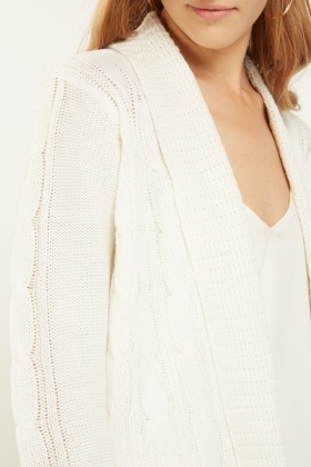 Cable Knit Waterfall Cardigan