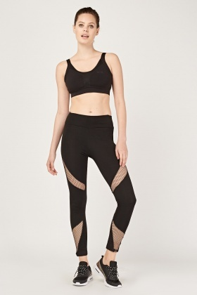 Perforated Front Sports Leggings