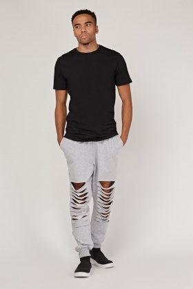 Ripped Knee Joggers