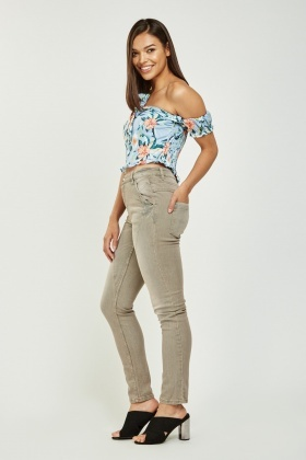 Casual Skinny Fit Jeans