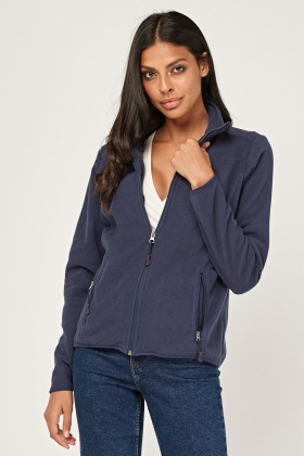 Casual Zip Up Fleeced Jacket