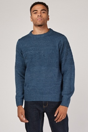 Chunky Knitted Patterned Jumper