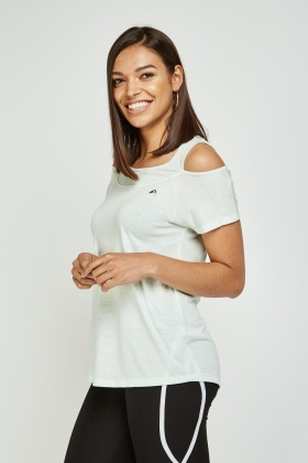 Cut Out Shoulder Sports Top