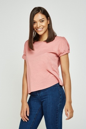 Pack Of 2 Cut Out Shoulder Tops