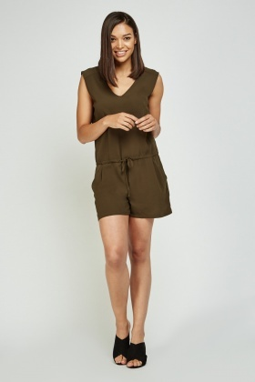 Sleeveless Tie Up Playsuit