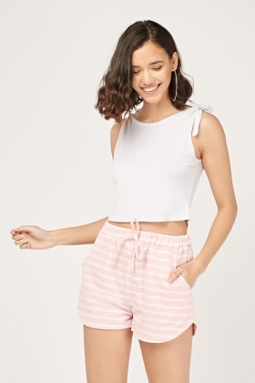 Casual Striped Lounge Shorts