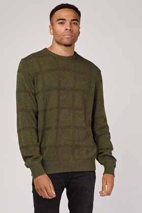 Knitted Grid Jumper