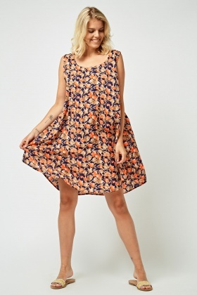 Multi Floral Swing Dress