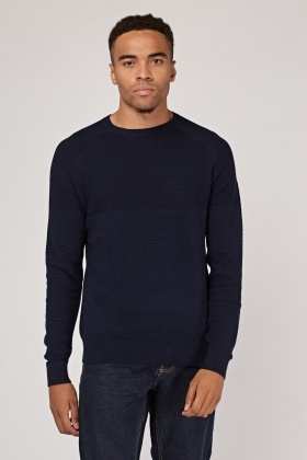 Textured Rib Knit Sweater