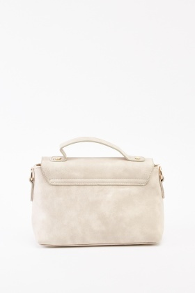 Bow Faux Leather Bag