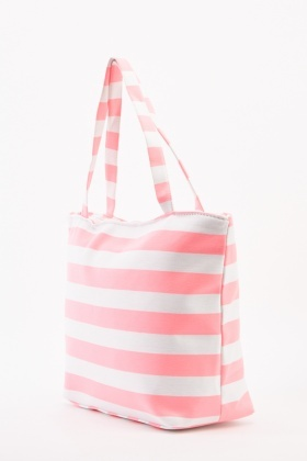 Large Striped Shopper Bag