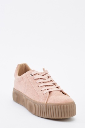 Suedette Chunky Lace Up Trainers