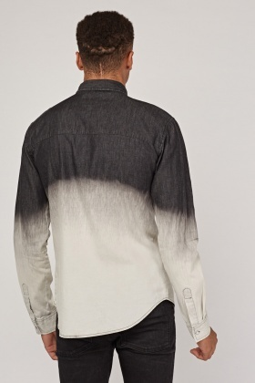 Long Sleeve Ombre Shirt