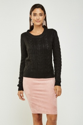 Plait Knitted Jumper