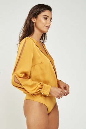Wrap Textured Bodysuit