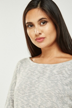 Fine Speckled Knit Sweater