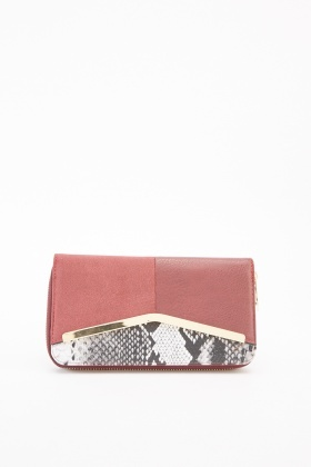 Contrast Printed Purse