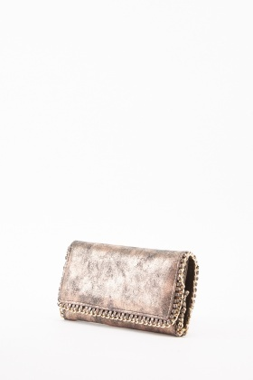 Metallic Chained Frame Purse