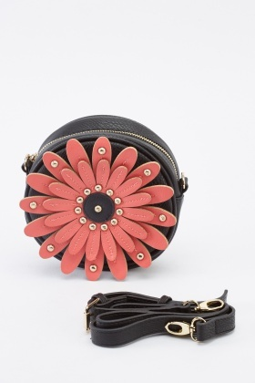 Mini 3D Flower Circle Bag
