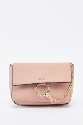 O-Ring Chain Faux Leather Bag