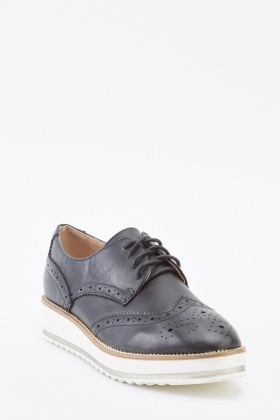 Platform Black Brogues