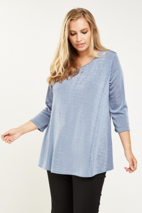 Metallic Round Neck Top