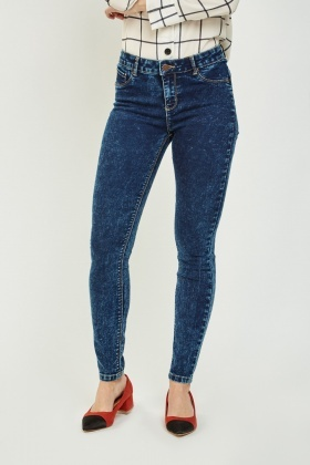 Dark Blue Skinny Push Up Jeans