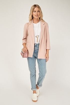 Dusty Pink Casual Blazer