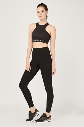 Encrusted High Waist Sports Leggings
