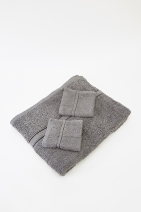 3 Piece Charcoal Towel Set