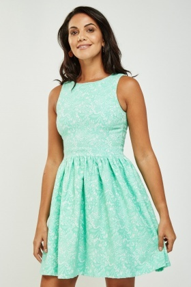 Crochet Mini Skater Dress