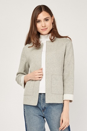 Knitted Box Crop Cardigan