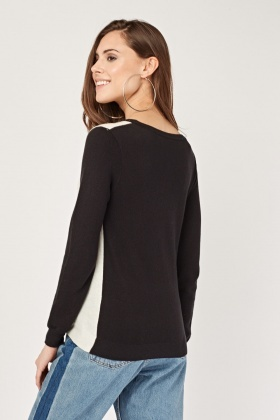Logo Front Knitted Top