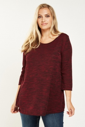 Wine Speckled Casual Top