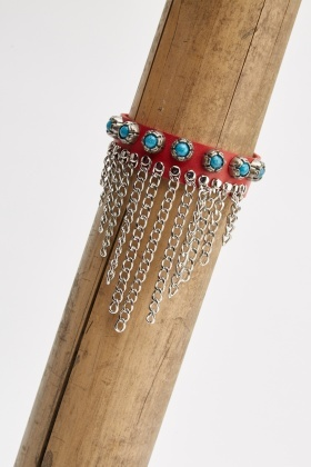 Chained Dangle Cuff Bracelet