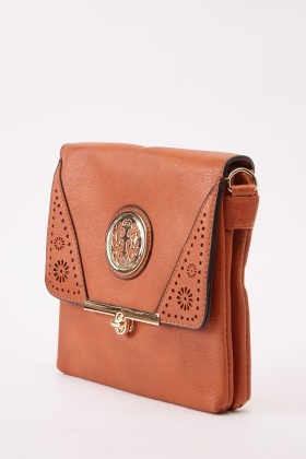Detailed Laser Cut Crossbody Bag