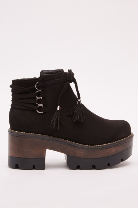 97bae24f0709 Suedette Chunky Block Heel Ankle Boots - Just £5