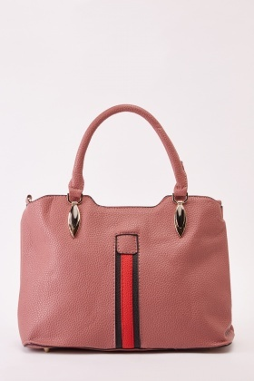 Textured Panel Faux Leather Bag