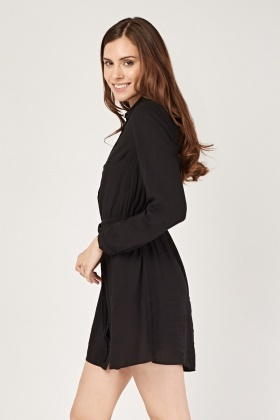 Long Thin Shirt Dress