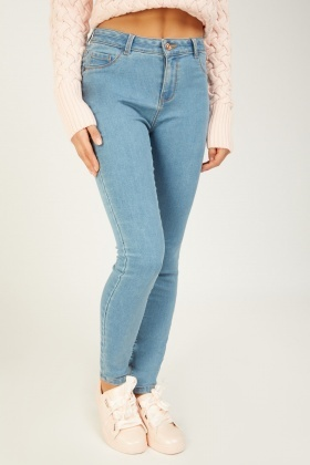Skinny Push Up Light Blue Jeans