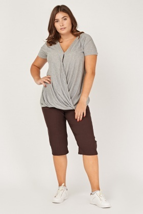 3/4 Leg Casual Crop Trousers