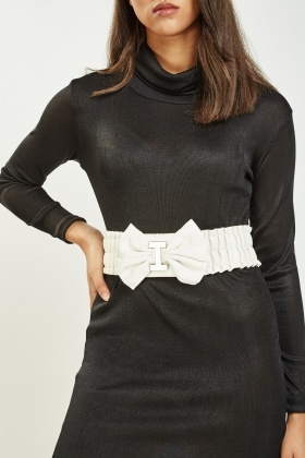 Ruched Bow Belt