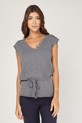 Encrusted Wing Back Knit Top
