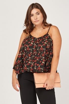 Printed Flared Cami Top