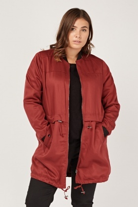 Casual Long Bomber Jacket