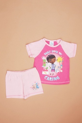 Doc Mcstuffins Print Top And Short Set